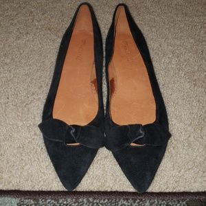 Madewell Suede bow tie flats